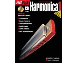 LIBRAIRIE - Fast Track Harmonica vol. 1 (avec CD) - B. Neely & D. Downing - Hal Leonard