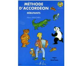 LIBRAIRIE - Méthode d'accordéon pour débutants (avec CD) - Manu Maugain - Ed. Lemoine