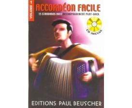 LIBRAIRIE - Accordéon Facile Volume 1 (Avec CD) - Paul Beuscher