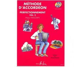 LIBRAIRIE - Méthode d'accordéon Perfectionnement Vol. 2 - Manu Maugain - Ed. Lemoine