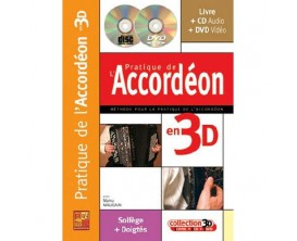 LIBRAIRIE - Pratique de l'Accordéon en 3D (Avec CD + DVD) - Manu Maugain - Play Music Publishing