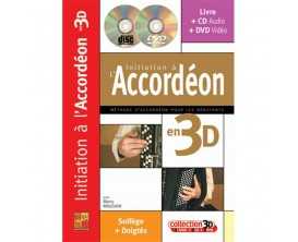 L'Initiation à l'Accordéon (Avec DVD & CD) - Collection 3D - Manu Maugain - Play Music Publishing