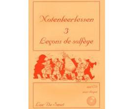 LIBRAIRIE - Leçons de solfège Vol.3, CD - Luc de Smet