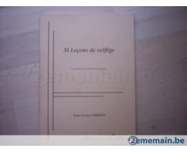 LIBRAIRIE - 31 Leçons de solfège - J.J. Buron (Ed. Dernoncourt)