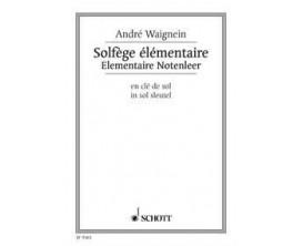 LIBRAIRIE - Solfège Elémentaire (en clé de Sol) - André Waignien - Ed. Schott