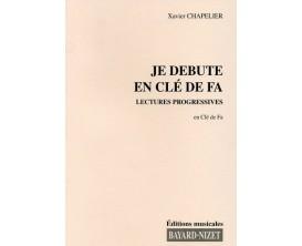 LIBRAIRIE - Je Débute en Clé de Fa Lectures Progressives - Xavier Chapelier - Ed. Bayard-Nizet