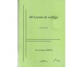 LIBRAIRIE - 68 Leçons de Solfège (Version élève) - Jean-Jacques Buron - Ed. Dernoncourt