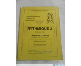 LIBRAIRIE - Rythmique 2 en clé de Sol et Fa - Jacqueline Lambert - Ed. Brauer