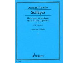 LIBRAIRIE - Armand Lenain - Solfèges (Leçons en clé de Sol) - Vol 1