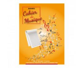 LIBRAIRIE - Bloc Notes - Cahier de musique (Portées) 100 Pages - Ed. Coup de Pouce