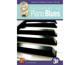 LIBRAIRIE - Initiation au Piano Blues, Collection 3D (Avec CD + DVD) - Ed. Play Music
