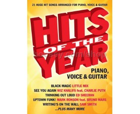 Hits of the Year Piano Voice & Guitar - Wise publications