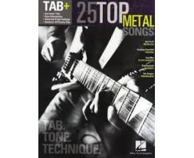 LIBRAIRIE - 25 Top Metal Songs (Tab, Tone, Technique) - Hal Leonard