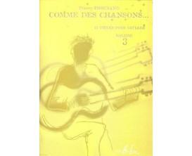 LIBRAIRIE - Comme des chansons Vol. 3 - Thierry Tisserand - Editions Lemoine