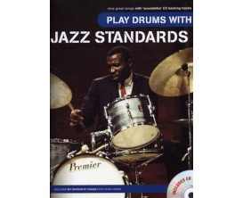LIBRAIRIE - Play Drums with Jazz Standards, avec CD - Ed. Music Sales