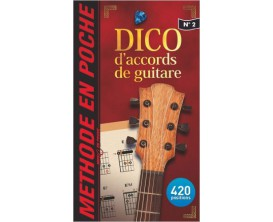 LIBRAIRIE - Dico d'accords de guitare no 2 - Méthode en poche - Hit Diffusion