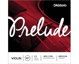 D'ADDARIO J810 1/2M Jeu de Cordes Violon 1/2 Série Prélude - Tension Moyenne