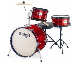 "STAGG TIM JR 3/16B RD 3PC BAT. JR 16""+HW/SIEGE - ROUGE"