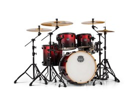 MAPEX AR504SBNV Armory - Kit Batterie 5 fûts, sans HW ni cymbale, Magma Red, Accastillage Noir