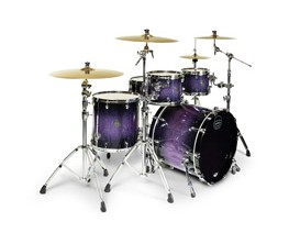 MAPEX SV529CPH - Batterie Saturn V MH Edition, 4 Futs (20/10/12/16) SANS HW NI CYMB - Red/Blue Hybrid Sparkle