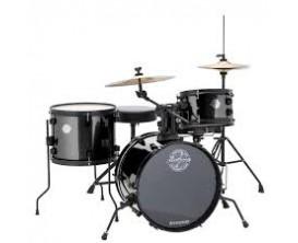 """LUDWIG LC178X016 - Batterie 4 Futs GC 16"""" Pocketkit Questlove, avec HW et cymbales - Black Sparkle"""