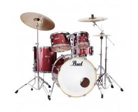PEARL EXX725SBR/C704 - Export Drum Kit 5 pces avec Hardware et cymbales Sabian SBR - Black Cherry Glitter