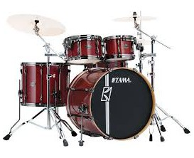 TAMA ML42HLZBNS-CCW - Superstar Hyperdrive Maple, Kit 4PC sans HW ni cymbales, Classic Cherry Wine