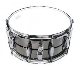 LUDWIG LB417 Caisse Claire BLACK BEAUTY Supra-Phonic 8 tirants - 6,5x14