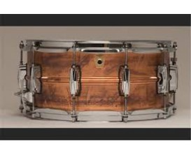"LUDWIG LC663 - Caisse Claire Copper-Phonic, 6.5x14"" Smooth Raw Shell, Imperial Lugs"