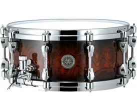 """TAMA PBQ146-MOB - Caisse Claire Starphonic quilted Bubinga 14x6"""", Quilted Mocha Burst *"""