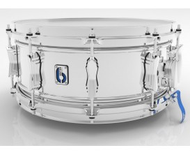 "BRITISH DRUM CO. BB-1460-SN - Caisse claire Bluebird 14 x 6"", fût en laiton chromé de 1,3 mm"