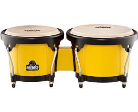 """NINO 17Y-BK Paire de bongos ABS 6,5""""+7,5"""", peaux de Buffle, jaune"""