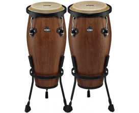 "NINO 89WB-M Set de Congas 8""+9"", peaux de buffle, finition noyer *"