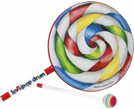 """REMO ET-7110-00 Tambour Lollipop 10"""" avec mailloche (tête en tissu) pour enfants"""