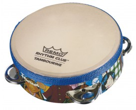 "REMO RH-2106-00 Tambourin ""Rhythm Club"" 6""x1.75"" avec 4 paires de cymbalettes"