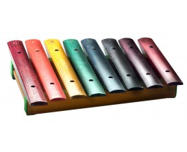 STAGG XYLO-J8 RB - Métallophone avec 8 lames de différentes couleurs, - 1 octave (do - do) - 23,3 x 24,3cm - avec deux mailloche