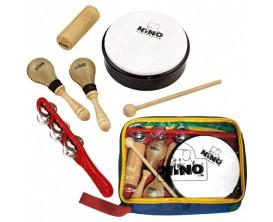 NINO SET1 - Assortiments de 5 petites percussions, avec housse de rangement