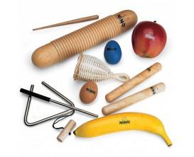 NINO SET4 - Assortiments de 8 petites percussions, avec housse de rangement