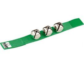 NINO 961GR Bracelet nylon avec velcro 3 grelots - Vert