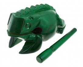 NINO 516GR - Guiro grenouille bois verte, Extra Large