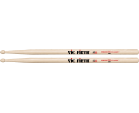 VIC FIRTH - Paire de baguettes 2B, American Classic Hickory