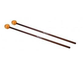 HAYMAN MM-4 - Marimba mallets, 406 mm. rattan handle, pair, 34 mm. medium head, orange