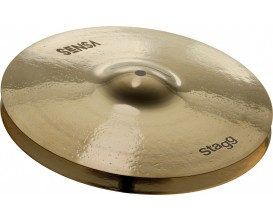 STAGG SEN-HM14B - Paire de cymbales SENSA Brillant, pour Charleston - Hi-Hat Medium 14""