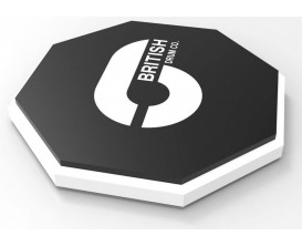 "BRITISH DRUM CO. BDA-PP10 - Tampon / Pad d'exercice octogonal de 10"" en caoutchouc"