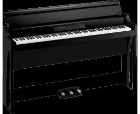 KORG G1 AIR-BK - Piano numérique meuble 88 notes, clavier RH3, système audio amélioré, noir
