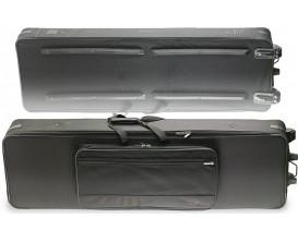 STAGG KTC-140D - Softcase léger pour clavier, avec roulettes et poignée (dim.150x40x20 cm (ext.)/ 137x38x18 cm (int.))