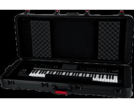 GATOR GTSA-KEY61 - Etui en polyéthylène pour clavier 61 touches, fermetures TSA, roulettes