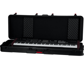 GATOR GTSA-KEY88 - Etui en polyéthylène pour clavier 88 touches, fermetures TSA, roulettes