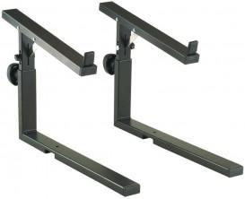 K&M 18813 - Bras d'extension pour second clavier sur stand Omega, noir