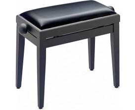 STAGG PB05 BKM SBK - Banquette piano noir mat avec pelote en skai noir